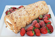 Strawberry Almond Roulade Image